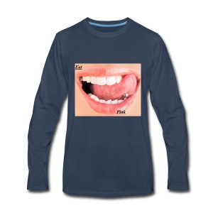 eat pink - Men's Premium Long Sleeve T-Shirt