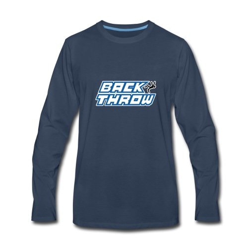 Back Throw Logo - Men's Premium Long Sleeve T-Shirt