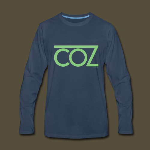 coz_logo_lightgreen - Men's Premium Long Sleeve T-Shirt
