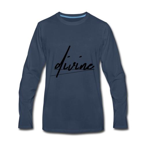 DIVINE_CURSIVE_LINES - Men's Premium Long Sleeve T-Shirt