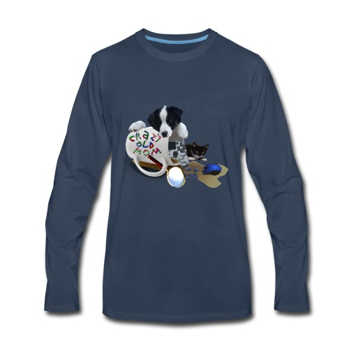 CrazyOldMom Twitch Logo - Men's Premium Long Sleeve T-Shirt