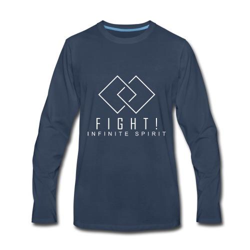 Fight. Infinite Spirit (Fight The Cancer) - Men's Premium Long Sleeve T-Shirt