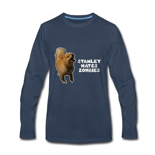 Stanley Hates Zombies - Men's Premium Long Sleeve T-Shirt