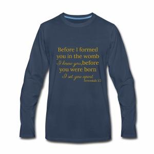 Jeremiah 1:5 Gold - Men's Premium Long Sleeve T-Shirt