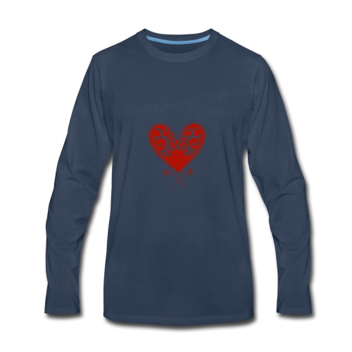 A Splash of Love Heart Design Baby One Piece - Men's Premium Long Sleeve T-Shirt