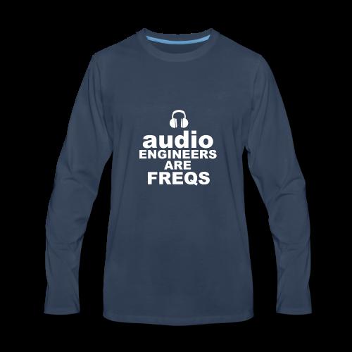 Audio Freqs - Men's Premium Long Sleeve T-Shirt