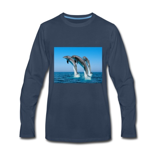 Dolphin Brand - Men's Premium Long Sleeve T-Shirt