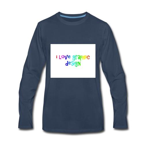 i love graphic design - Men's Premium Long Sleeve T-Shirt