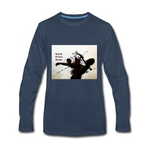 Grisly Crime Scene man shot - Men's Premium Long Sleeve T-Shirt