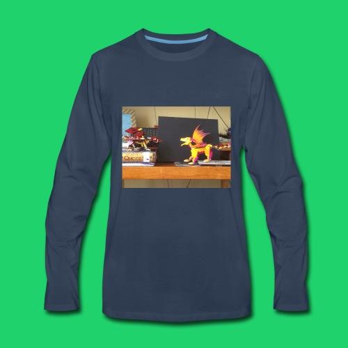 Fire dragon battle - Men's Premium Long Sleeve T-Shirt