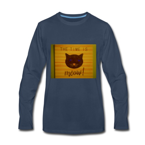 The time is meow - Men's Premium Long Sleeve T-Shirt