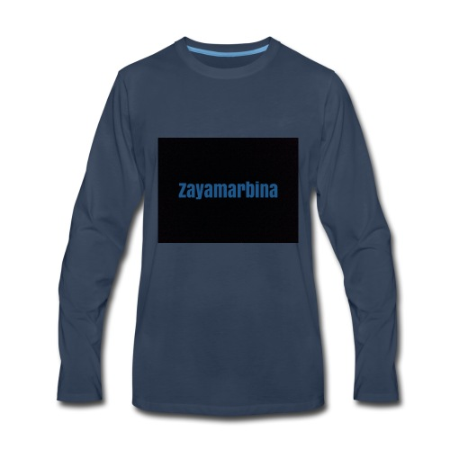 Zayamarbina bule and black t-shirt - Men's Premium Long Sleeve T-Shirt