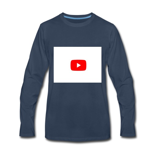 YouTube play button - Men's Premium Long Sleeve T-Shirt