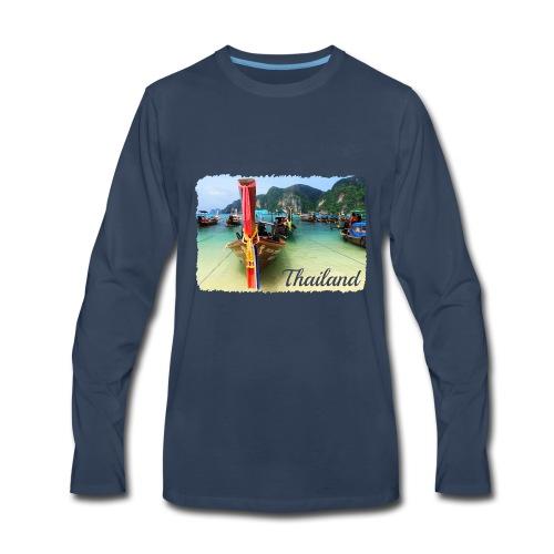 Thailand, Longtail Boats - Men's Premium Long Sleeve T-Shirt