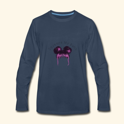Squeeze My Buns - Men's Premium Long Sleeve T-Shirt