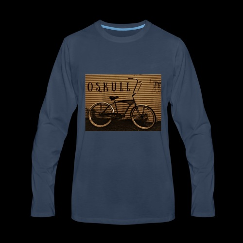 ratrod bike old school style - Men's Premium Long Sleeve T-Shirt