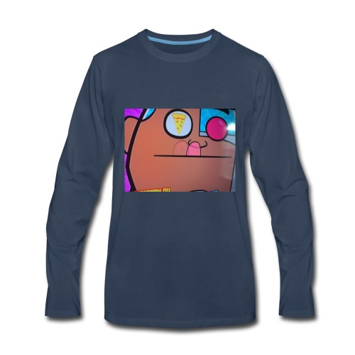 Thinking about pizza - Men's Premium Long Sleeve T-Shirt