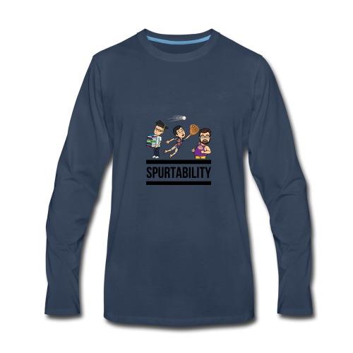 Spurtability Black Text - Men's Premium Long Sleeve T-Shirt