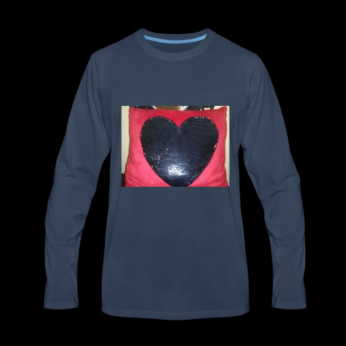 Heart pillow - Men's Premium Long Sleeve T-Shirt