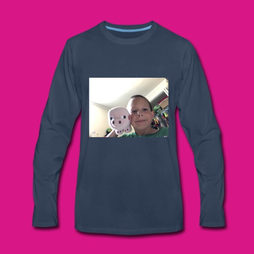 Wiggie and Aidan, Sitting in a tree. K I S S I N G - Men's Premium Long Sleeve T-Shirt