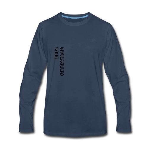 Eric Christian Side Logo Black - Men's Premium Long Sleeve T-Shirt