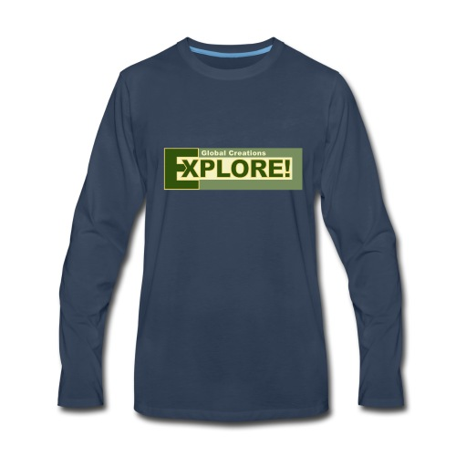 Explore Logo - Men's Premium Long Sleeve T-Shirt
