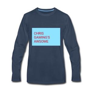 CHRIS GAMING'S AWSOME - Men's Premium Long Sleeve T-Shirt