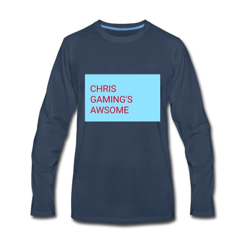 CHRIS GAMING'S AWSOME - Men's Premium Long Sleeve T-Shirt