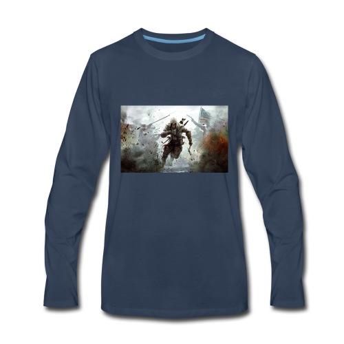 assassins creed 3 - Men's Premium Long Sleeve T-Shirt