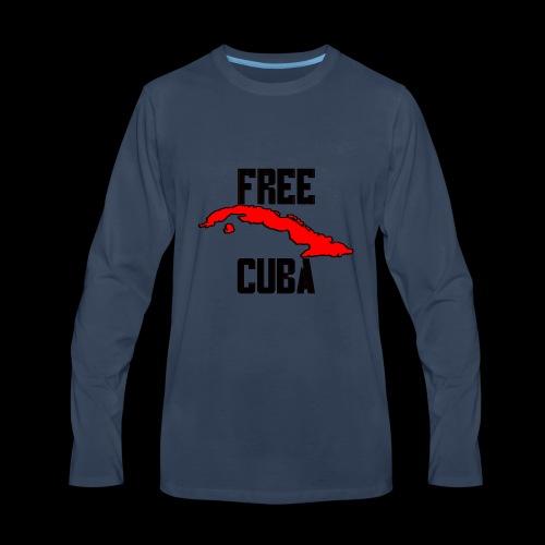 Free Cuba Red - Men's Premium Long Sleeve T-Shirt
