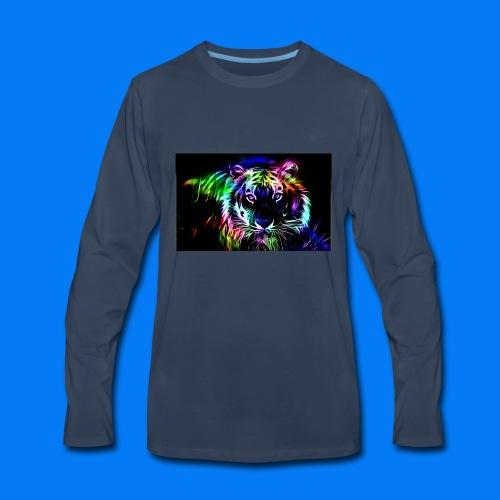 Rainbow tiger! - Men's Premium Long Sleeve T-Shirt