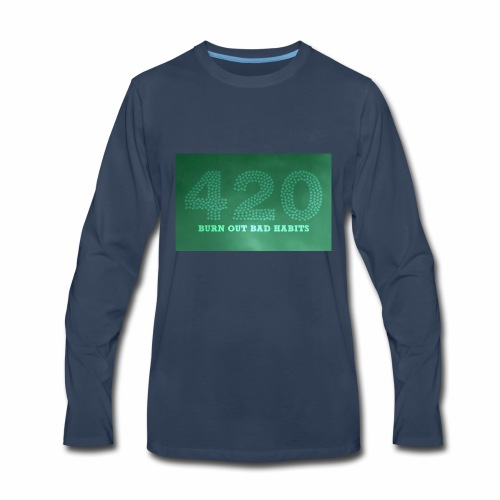 drug free 420 weed - Men's Premium Long Sleeve T-Shirt