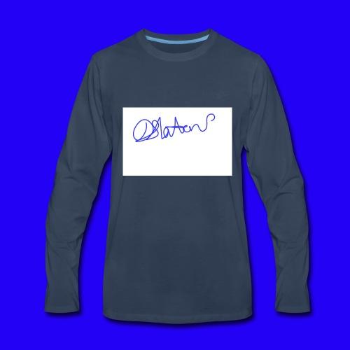 DS Vlogs Signature - Men's Premium Long Sleeve T-Shirt