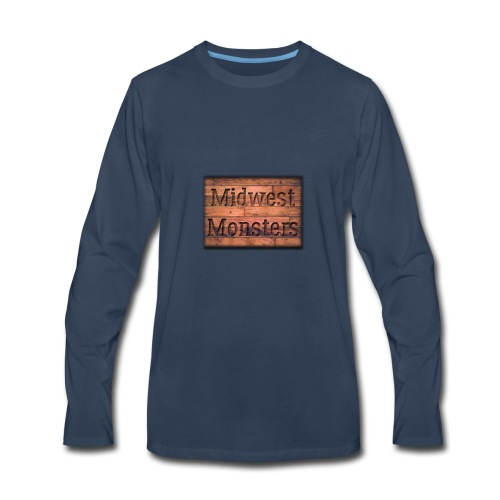 Midwest Monsters Wood Logo - Men's Premium Long Sleeve T-Shirt
