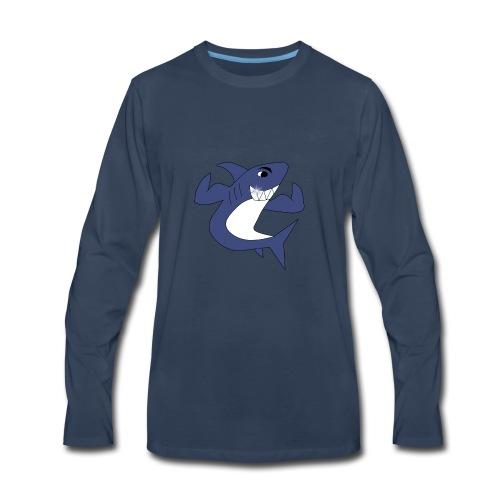 Sharky with Muscles - Men's Premium Long Sleeve T-Shirt