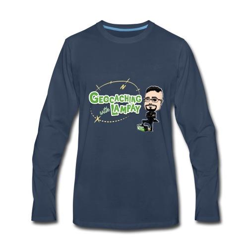 Geocaching With Lampay logo - Men's Premium Long Sleeve T-Shirt