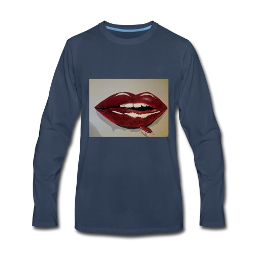 Hot Lips - Men's Premium Long Sleeve T-Shirt