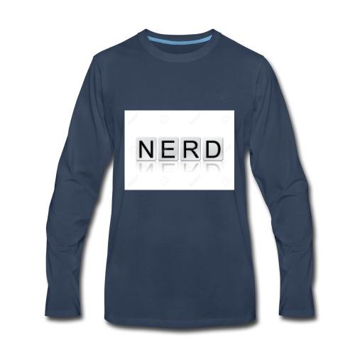 66188244 The word Nerd written in tile letters iso - Men's Premium Long Sleeve T-Shirt