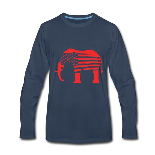 The Red Elephants Official Logo - Men's Premium Long Sleeve T-Shirt