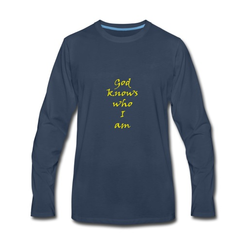 god - Men's Premium Long Sleeve T-Shirt