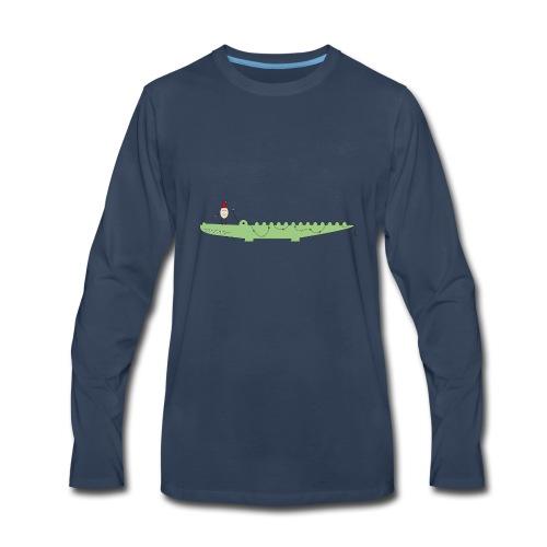 Croc & Egg Christmas - Men's Premium Long Sleeve T-Shirt