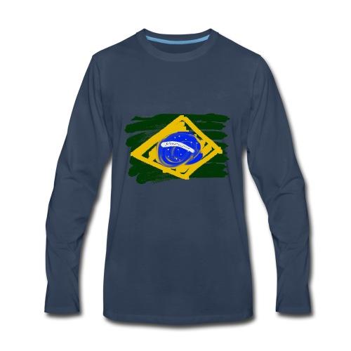 Brazilian Flag - Men's Premium Long Sleeve T-Shirt