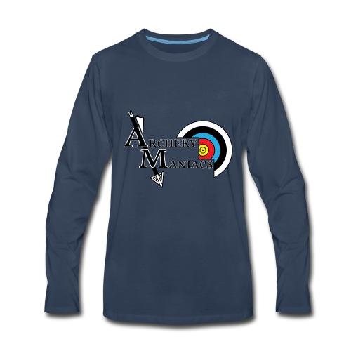 Archery Maniacs White Outline - Men's Premium Long Sleeve T-Shirt