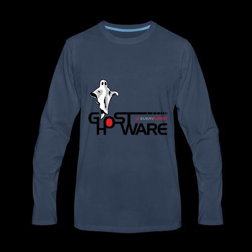 Ghostware Wide Logo - Men's Premium Long Sleeve T-Shirt