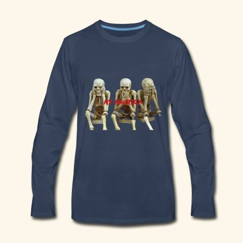 My America See No Evil Skeletons - Men's Premium Long Sleeve T-Shirt