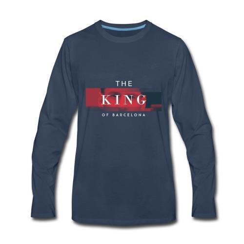 /Leo Messi King Desgn/ - Men's Premium Long Sleeve T-Shirt