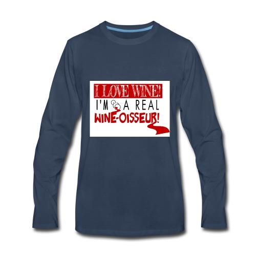 Wine-osseur Shirt - Men's Premium Long Sleeve T-Shirt