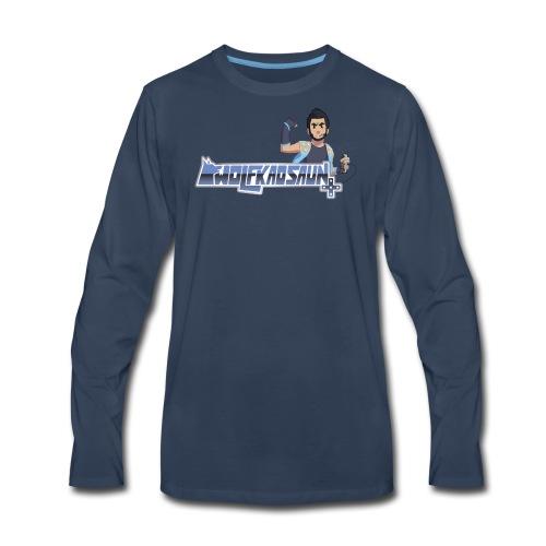 Wolfkaosaun and character - Men's Premium Long Sleeve T-Shirt