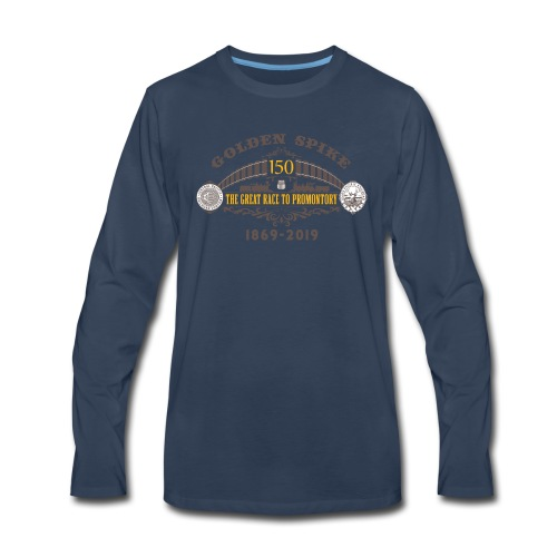 Golden Spike Version 1 - Men's Premium Long Sleeve T-Shirt