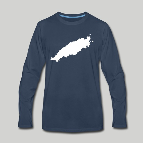 Tobago in Silhouette - Men's Premium Long Sleeve T-Shirt